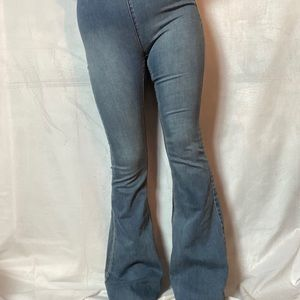 FREE PEOPLE PENNY PULL ON BELL BOTTOM FLARE JEANS